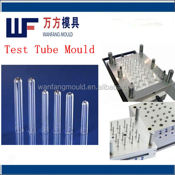 32 cavity plastic long tube mould/plastic blood test tube injection mould