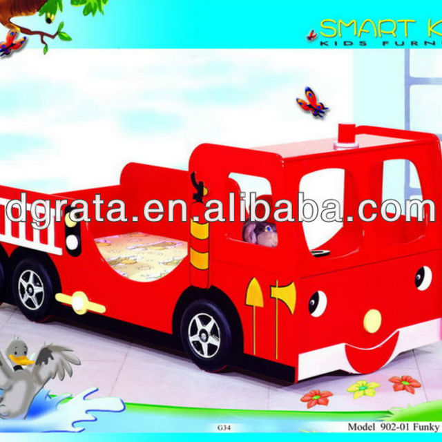 the kid fire truck bed is mdf board and environment painting smart style children bedroom