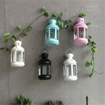 wholesale cheap decorative color metal candle holder