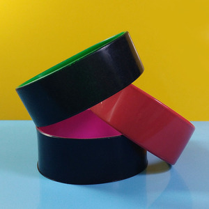Custom 1 Inch Size 2 Layers Silicone Wristbands/Color Coated Silicone Bands/Bracelets With Paint Different Colors