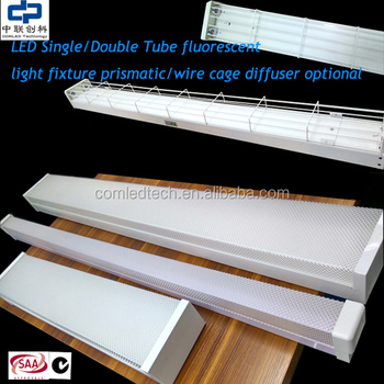 4ft Double Fluorescent Light Fitting With Diffuser