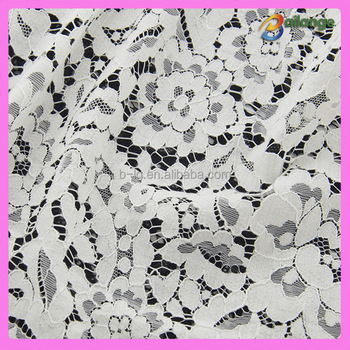 French Flower embroidery lace fabric with holes for wedding dress Bailange wholesale wholesale handmade lace fabric