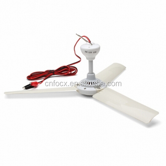 DC12V 5W Plastic 3 Leaves Brushless Converter Motor Battery Mini Ceiling Fan / mini Emergency fan