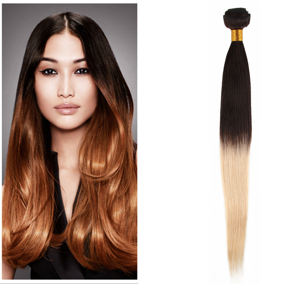 Buy Ombre Hair Extensions Straight 1b 613 Dark Root 3pcs 300g Color