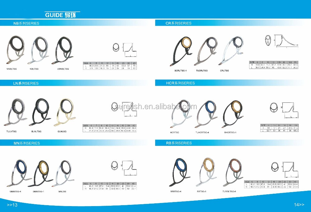wholesale SIC ring stainless steel frame OS fishing rod guide