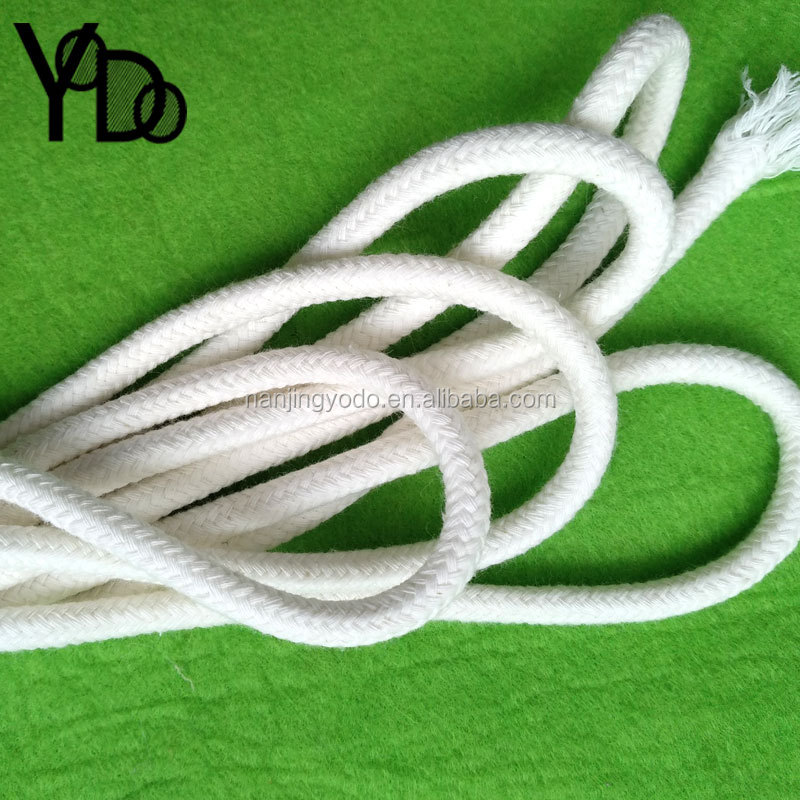 YQ-RY69 Pure cotton Off white solid core 6-7mm diameter wholesale drawstring bag cord