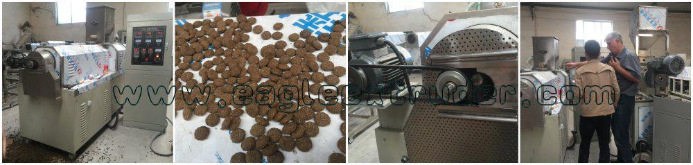 2 ton/h pet dog food pellet/floating fish feed food production line