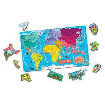 world map magnetic jigsaw puzzle