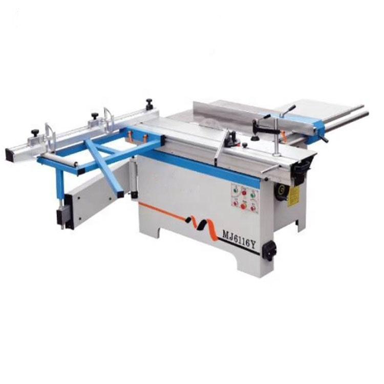 MJ6116Y chế biến gỗ đôi lưỡi hướng dẫn cắt 1600mm kích thước cắt gỗ giá rẻ bảng trượt bảng cưa