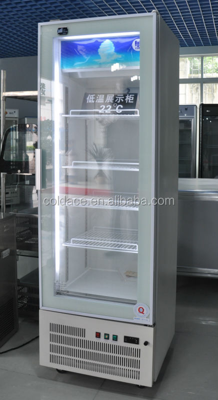 Ice cream vertical showcase/glass door refrigerator