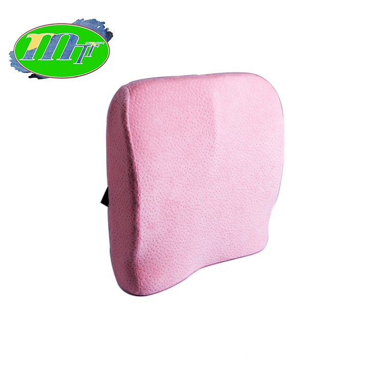 Lumbar Back Support Cushion Contoured Memory Foam Pillow For Chair Or Car