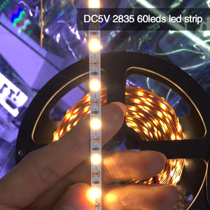 high lumen 5v led strip 2835 60leds/m 5050 rgb 60leds/m with powerful factory bottom price