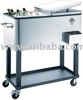 Patio Ice Cooler,Beverage Cart