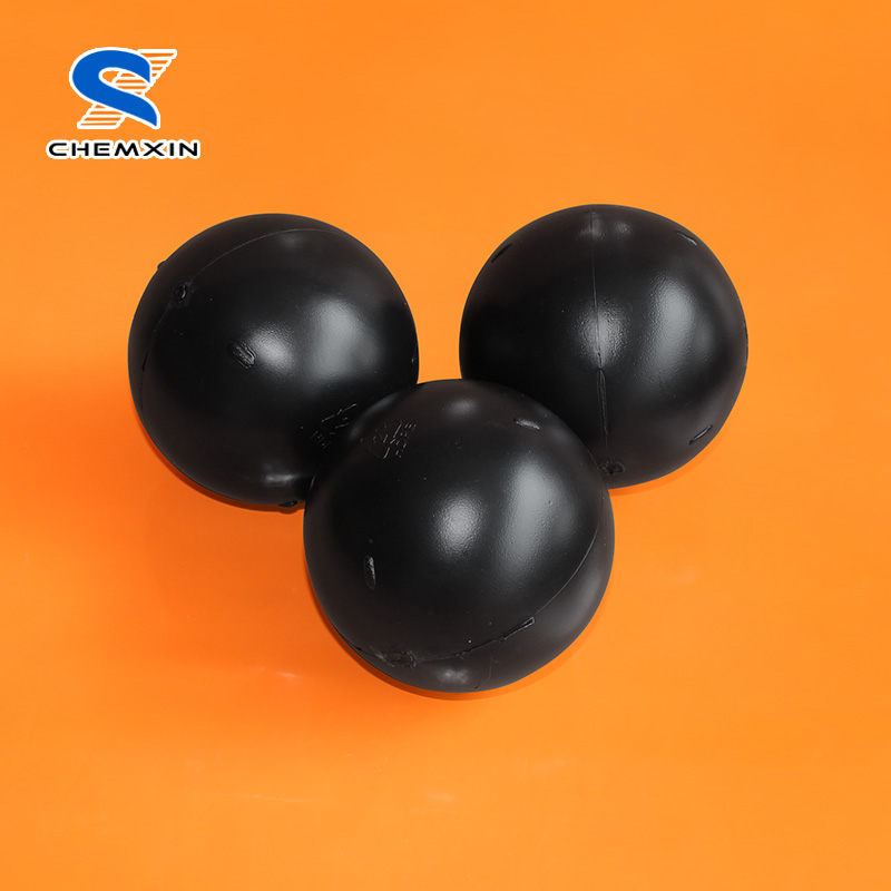 4 inch UV Resistant Black Color Shaded hollow Plastic Floating Ball