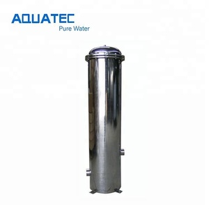Stainless steel 304 cartridge filter housing for water pretreatment system