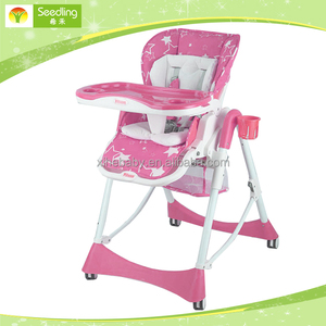 Multi-function Feeding baby highchair, 3 in 1 folding adult baby high chair