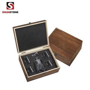 Twist Whiskey Glass Heavy and Solid Diamond Cut Customized Whiskey Glasses Gift Box Set for Whikey Drinking Lovers