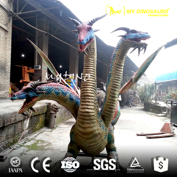 MY Dino WD-38 Three Head West Dragon Statues