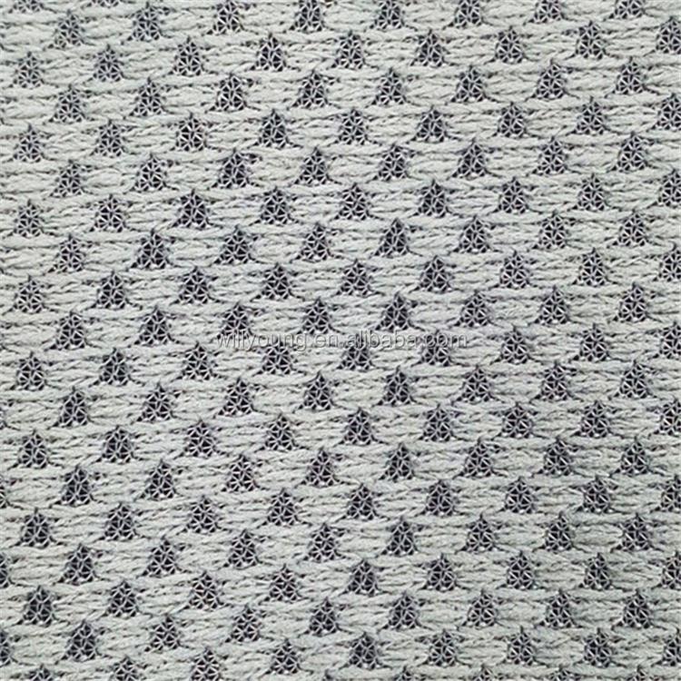 Circular Knitting Fabric : Mini jacquard fabric with dobby design weaves clothing