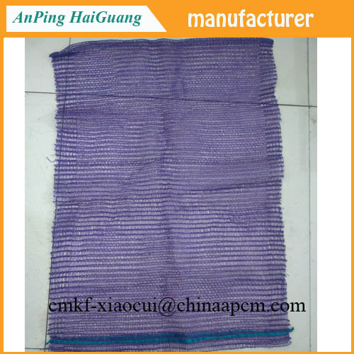 violet PE raschel mesh bag and firewood mesh bag from factory