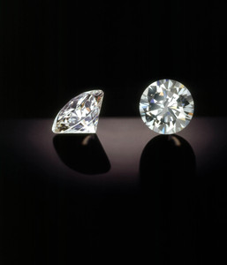 white lab grown CVD/HPHT polished synthetic diamond