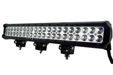 China Supplier Spot and Flood Combo Beam Off Road CAR/SUV /TRACK/JEEPS 126W 20inch led light bar