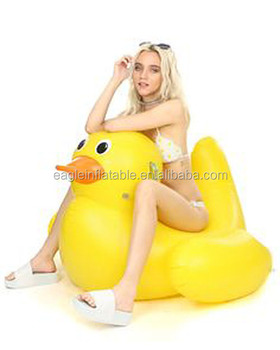 2017 Cheap Price Giant Inflatable Promotion Duck Float Big Yellow Duck  Rider Floating Pool Rubber Duck