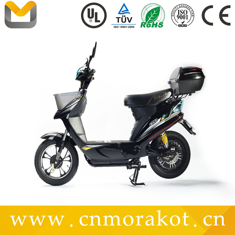 with front basket 48v 350w electric scooter with pedals
