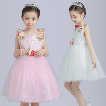 B4265 Girls Party Dress Kids 2017 Children Teenagers Prom Party ...