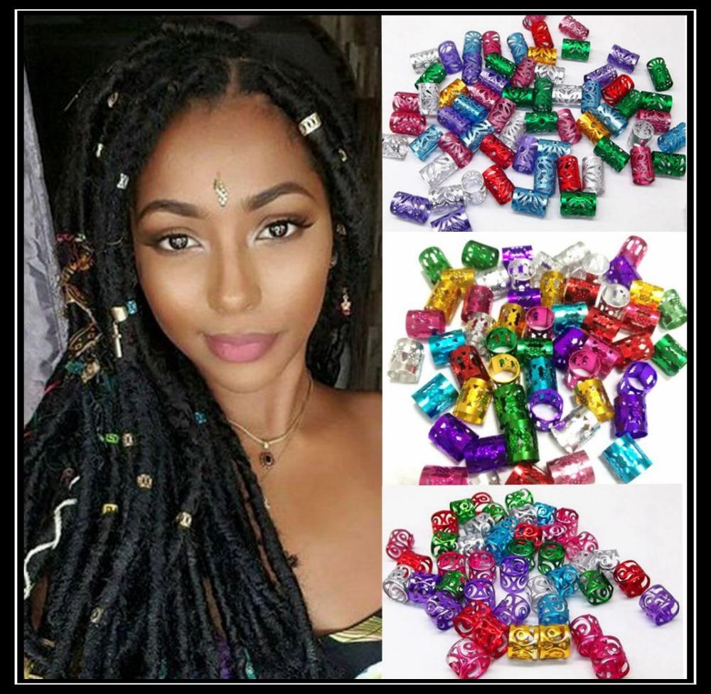 hair beads for synthetic braid hair decoration accessories, dreadlocks braiding hair cuffs