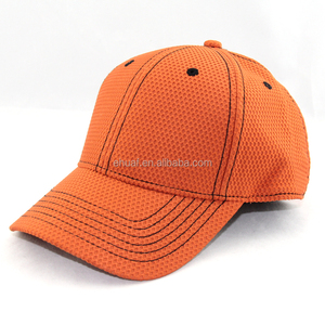6 panel contrasting colors structured poly waffle performance golf hat