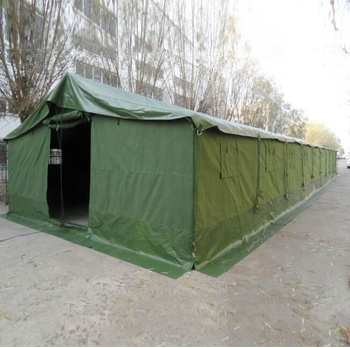 100 sqm double roof heavy duty military style canvas tents