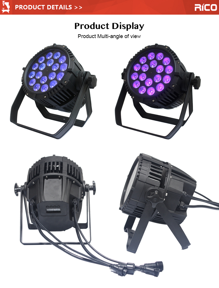 Factory Supply Waterproof Outdoor  4in1/5in/6in1 18x12W ip 65 led par light