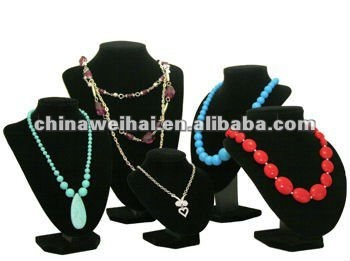 jewelry necklace bust displays