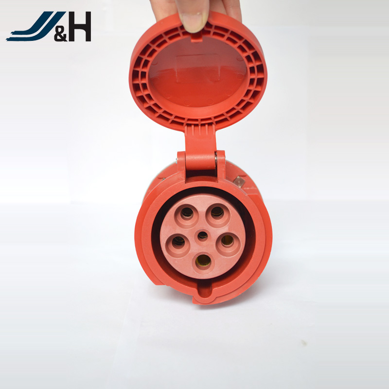 IEC CEE CCC male and female industrial plug and socket Industrial connector 6H 5P 63A IP67