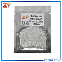 Semi precious white round gemstone cubic zirconia stone CZ gems
