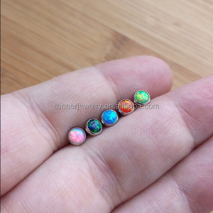 HOT SALE 16G Opal Labret/Lip Ring Piercing Jewelry