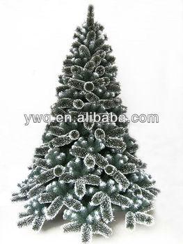 7.5ft Snow Tip Christmas Pine Tree Artificial Flocked Christmas ...
