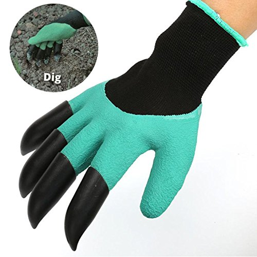 Plastic garden gloves, garden gloves,Garden Gloves with 4 ABS Plastic Claws for garden Digging Planting 1 pair Drop,plastic tip garden gloves
