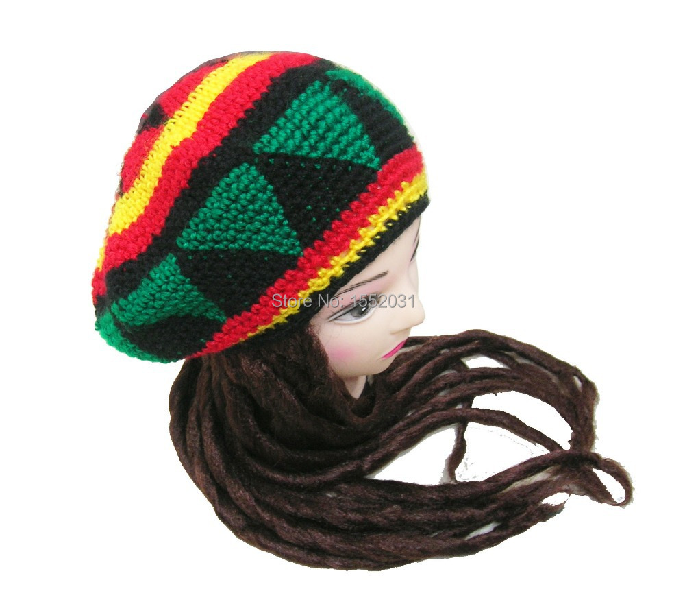 Cheap red rasta hat find red rasta hat deals on line at alibaba get quotations handmade jamaican rasta hat with dreadlocks wigs jameican hat tams fancy dress costumes crochet rasta beanies bankloansurffo Image collections