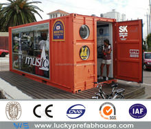 new style modern container house shop supplier