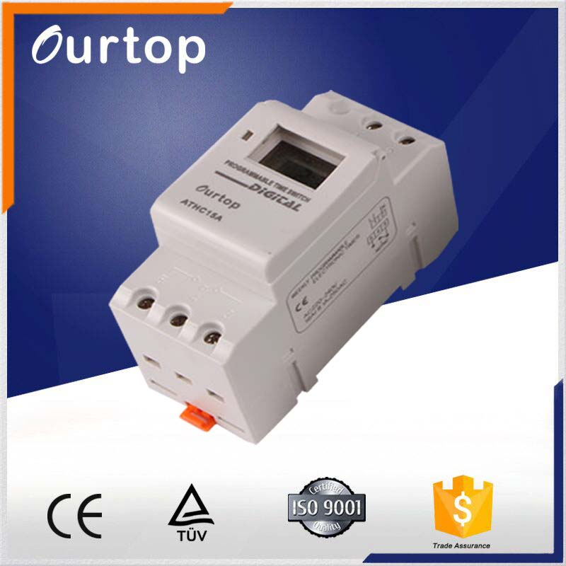 Weekly or Daily 24 Hours Mechanical Time Switch 220V LCD/LED Display