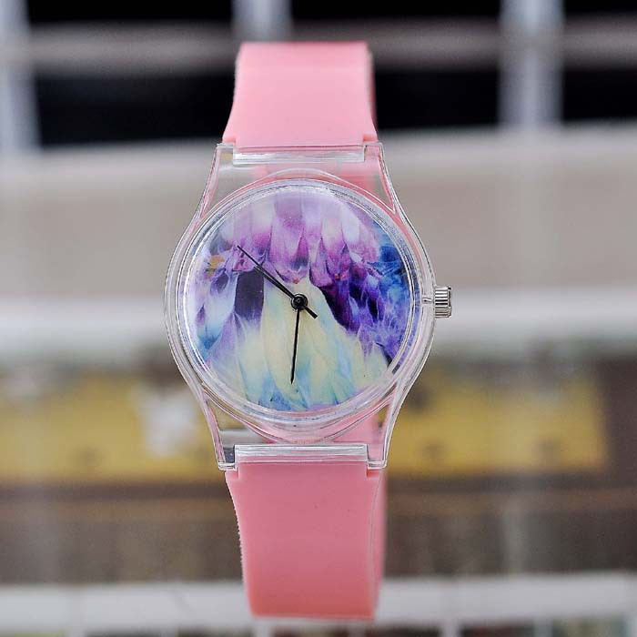 2015 Top Quality Transparent Quartz Fashion Plastic Watch Kids Simple New Arrived Design Watches