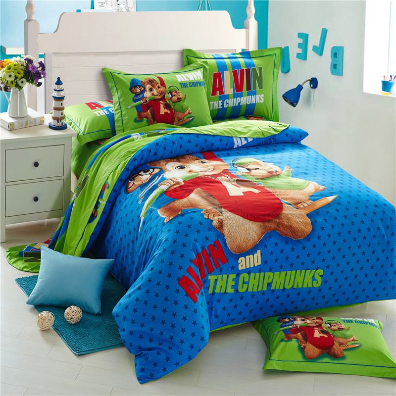 Alvin and the Chipmunks 3D bedding sets cartoon bed linen