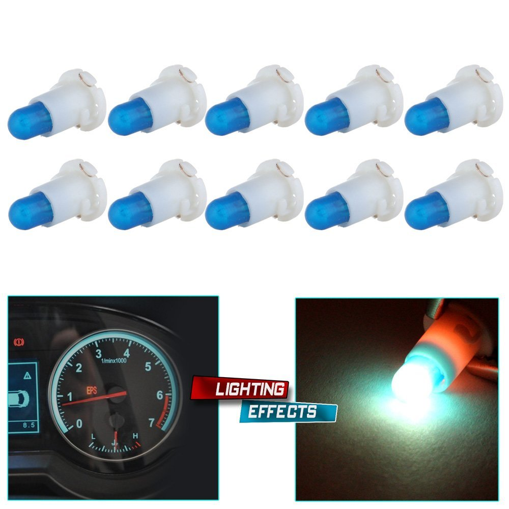 Cheap Cluster Dash Find Deals On Line At Alibabacom Firebird Instrument Circuit Board For Cars With Factory Gauges Get Quotations Cciyu 10 Pack Ice Blue T4 T42 Neo Wedge Halogen Bulb