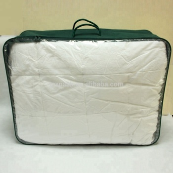 Clear Plastic Zipper Bag Duvet Storage