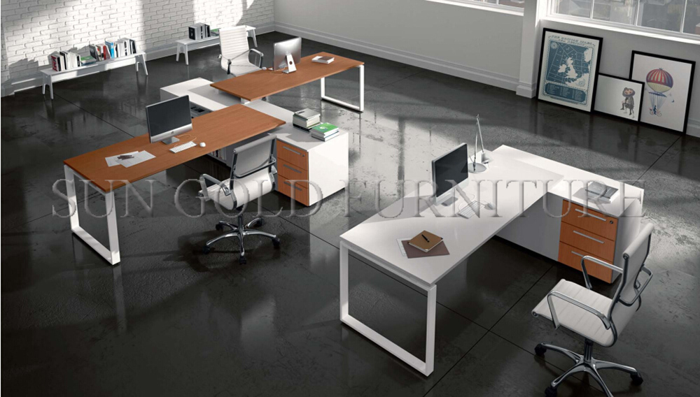 Exclusive Modern Office Workstations Double Sided Computer