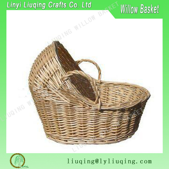factory wholesale bulk willow baby basket with handle. Black Bedroom Furniture Sets. Home Design Ideas