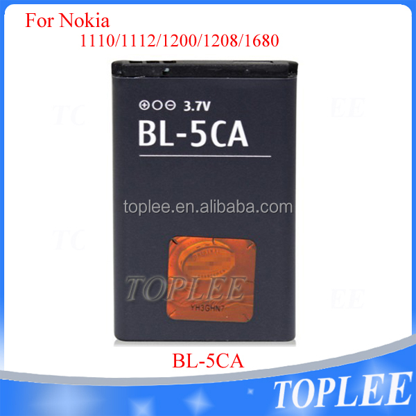 Hot selling factory price BL-5CA Battery for Nokia 1100 6681 6680 6670 6630 6600 6280 7600 N72 N70 1100 6681 6680