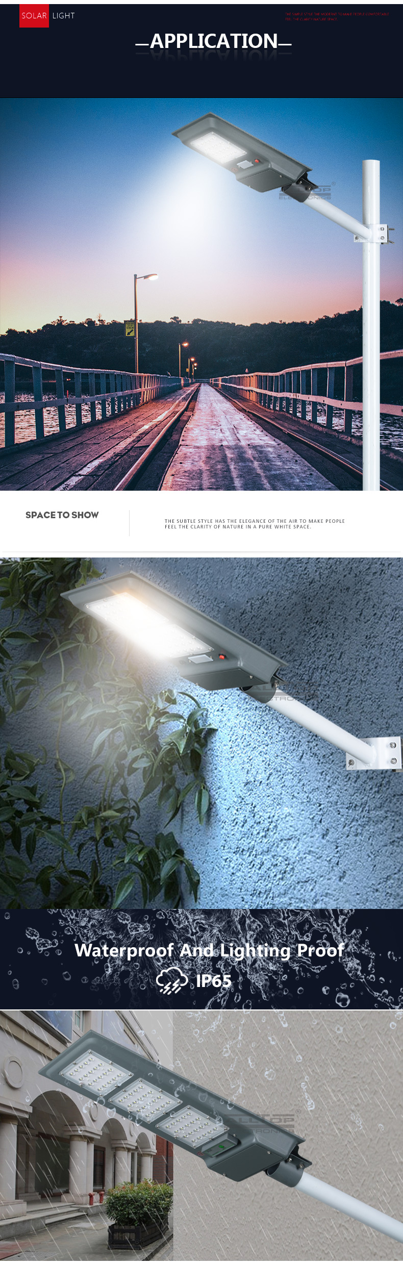 ALLTOP High quality outdoor all in one ip65 20 40 60 watt all in one solar energy power led street lighting system